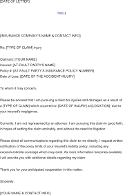 download letter of notification to insurance template for free