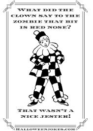 black and white halloween joke cartoon clown cpal