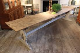 large trestle dining table very large 19th cent painted swedish trestle table dining tables