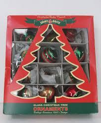 christopher radko shiny brite glass christmas ornaments vintage