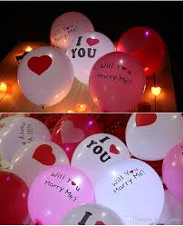 valentines day baloons led luminous balloons light balloons s day