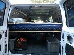 how to build a bed in a van building a simple removable bed in