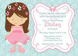 Princess Themed Birthday Invitation Cards Ballerina Birthday Invitations Kawaiitheo Com