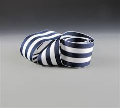 navy blue and white striped ribbon navy and white striped grosgrain ribbon