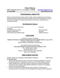 professional objectives best format of resume sample best descriptive essay writers site