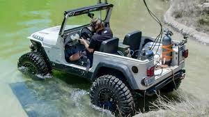 diesel jeep wrangler diesel jeep drives 12 feet underwater dirt every day ep 54