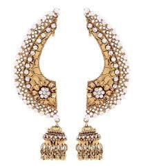 Buy Designer Gold Plated Golden Renaissance Traders American Diamond Designer Gold Plated Ear Cuff