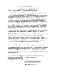 doc 400518 release of liability waiver template u2013 release of