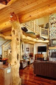Best LogHome Living Images On Pinterest Log Cabins Rustic - Log home interior designs
