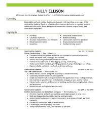 Resume Summary Of Qualifications Carpentry Resume Resume Cv Cover Letter