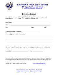 Letter Of Contribution Sample Donation Slip Template Helloalive
