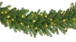 christmas garland with lights lighted christmas garland olympia pine prelit commercial led