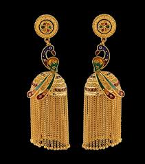 stylish gold earrings 2015 model stylish pair of italian styled gold hanging earrings
