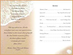 template for funeral program 5 funeral program wording free invoice letter