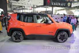 orange jeep 2016 jeep renegade trailhawk side profile at auto china 2016 indian