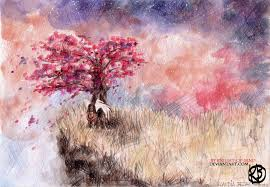 cherry blossom tree by knight of sand on deviantart