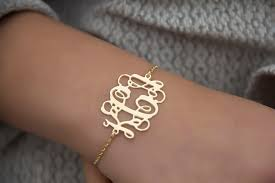 personalized gold bracelets gold monogram bracelet katy styles name necklace