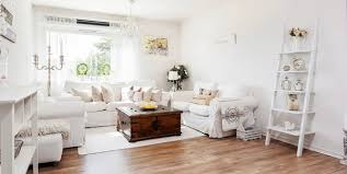 welcoming white interior with delicate decorations adorable home