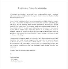 literature review outline template u2013 8 free sample example