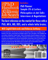 the phd handbook for the academic job search an owner u0027s manual