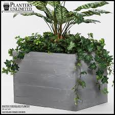 faux board formed concrete planters planters unlimited