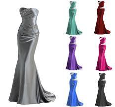 purple mermaid bridesmaid dresses formal black evening gowns