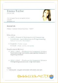 printable resume template printable blank resume