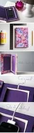 charging station diy 18 diy dorm room ideas for girls cell phone charger pinterest