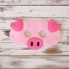 Kids Pig Halloween Costume Pig Mask Felt Kids Mask Farm Animal Costume Dress