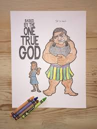 david and goliath coloring page u2013 children u0027s ministry deals