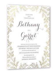 wedding invitations jackson ms botanical luster radiance 5x7 wedding invitations shutterfly
