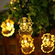 solar string lights 2018 christmas lights outdoor santa claus solar string lights 30