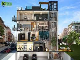 Multifamily Home Plans by 3d Cut Section Design Of Multi Family Home By Yantram
