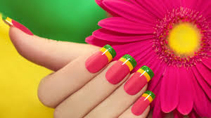 colorful minimalism flowers hand fingers long nails depth of