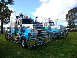 kenworth show trucks file kenworth t909 and western star 6900 on display at the