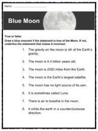 the moon facts worksheets u0026 lunar satellite information for kids