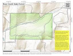 Bear Creek Trail Map Bear Creek State Forest U2013 Andy Arthur Org