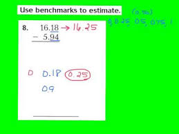 lesson 3 7 estimate decimal sums and differences youtube