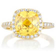 canary engagement ring julianna s simulated canary simulated ring goldtone