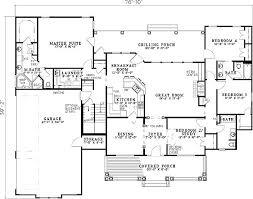 split floor plan house plans single level house plans one house plans great room house