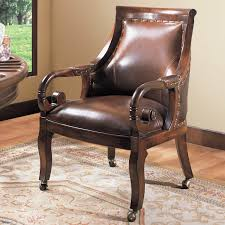 Leather Chairs 5 Piece Prescott Game Set With Embossed Leather Chairs Free