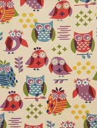 Owl Kitchen Curtains by Cartwheel Spring Green 100 Cotton Multi Purpose Fabric Great