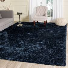 Solid Black Area Rugs Plush Navy Blue Shag Toronto Collection Safavieh Com