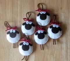 giorgio the sheep ornament felt by martianique on etsy