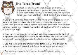 pet trio tenses matching game premium printable classroom