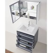Free Standing Bathroom Vanity by Contemporary Free Standing Bailey 30 Inch Grey Single Sink