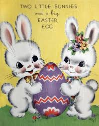 big easter bunny retro easter bunnies on a kitschy card vintage fangirl