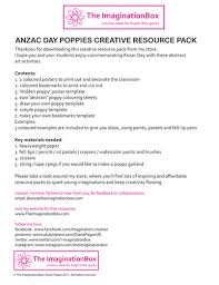 anzac commemoration poppy art activities poster resource