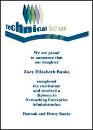 online graduation announcements enjoy same day processing and shipping on your vo tech school
