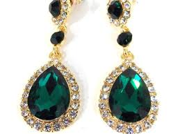 emerald green earrings 52 emerald teardrop earrings christmas gifts bling jewelry cz